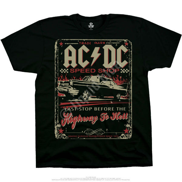 Футболка Liquid Blue AC/DC Speedshop Black
